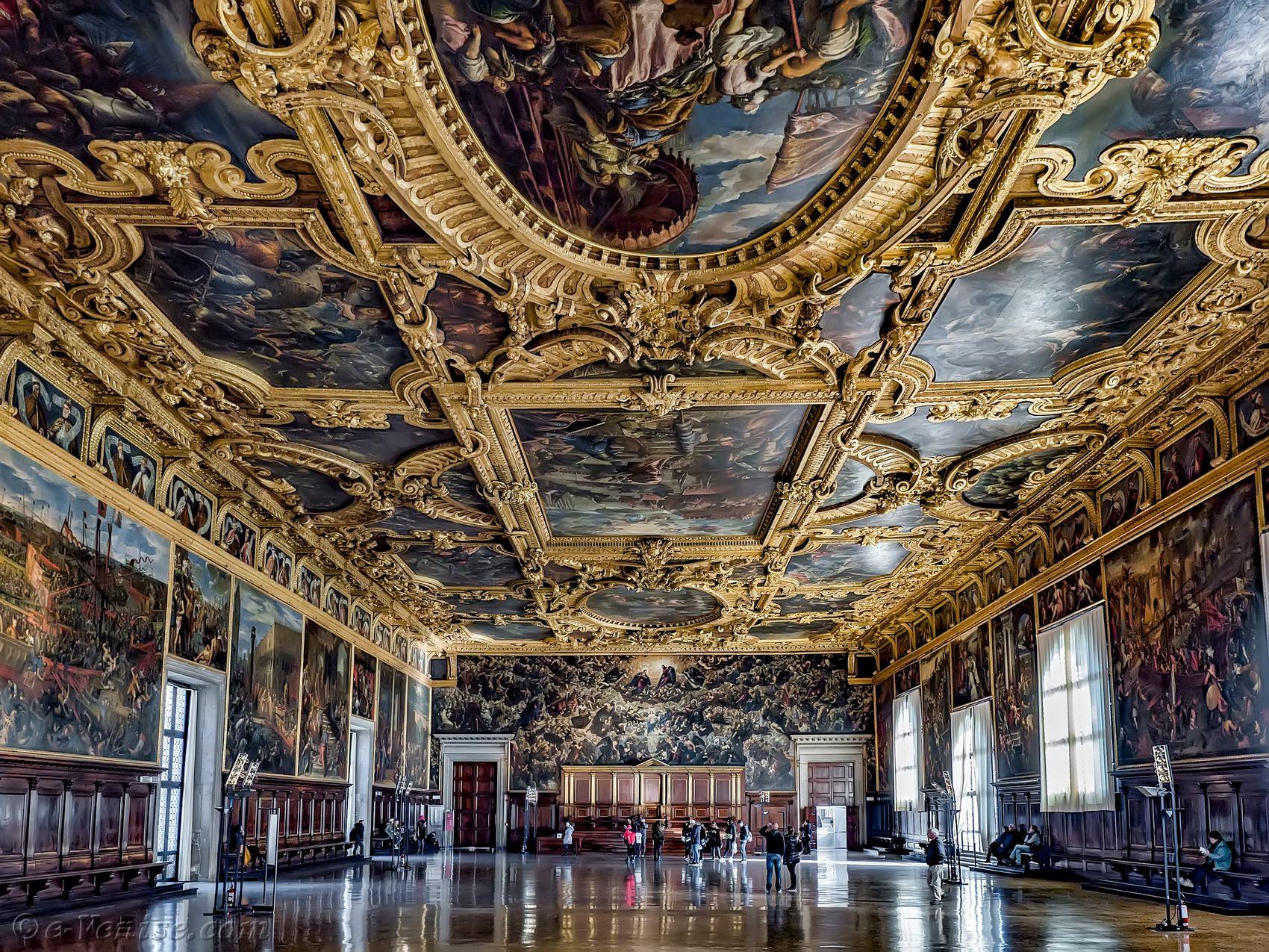 le palais des doges ducal venise le grand conseil. Black Bedroom Furniture Sets. Home Design Ideas