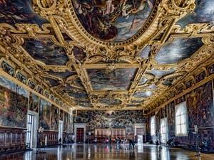 La salle du Grand Conseil Palais des Doges à Venise