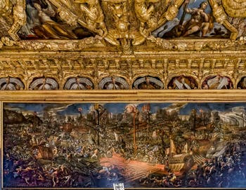 La Bataille de Lépante, Andrea Vicentino, Salle du Scrutin du Palais des Doges de Venise
