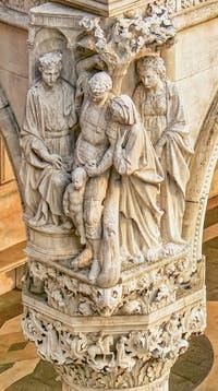 Sculpture du Jugement du Roi Salomon, Palais des Doges à Venise