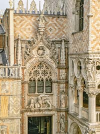 La Porta della Carta, la porte des Papiers du Palais des Doges de Venise
