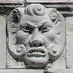 Sculpture sur un chapiteau du Palais Pisani à Venise