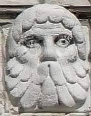 Sculpture de chapiteau du Palazzo Pisani à Venise