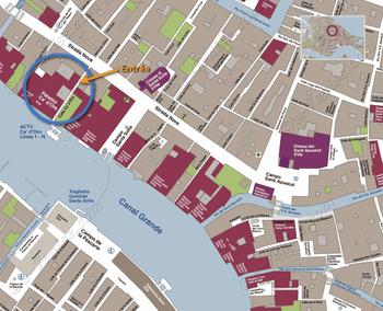 Plan de Situation du Palais de la Ca' d'Oro à Venise Italie