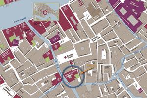 Plan de Situation du Palais Scala Contarini del Bovolo à Venise Italie