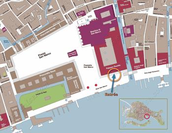 Plan de Situation du Palais des Doges à Venise Italie
