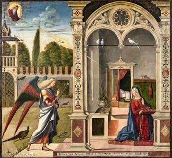 Vittore Carpaccio, Annonciation à la Galerie Franchetti Ca' d'Oro à Venise en Italie