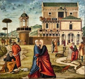Vittore Carpaccio, Visitation à la Galerie Franchetti Ca' d'Oro à Venise en Italie