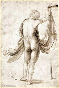 Albrecht Dürer - Académie de Femme 1495.