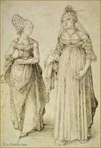 Albrecht Dürer Nurembourgeoise et Vénitienne 1495.