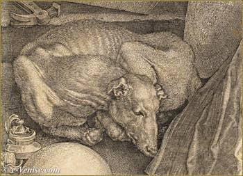 Albrecht Dürer - La Mélancolie 1514 détail.