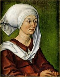 Albrecht Dürer - Portrait de sa mère, Barbara Dürer Holper 1490.