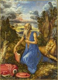 Albrecht Dürer - Saint-Jérôme Pénitent 1497.