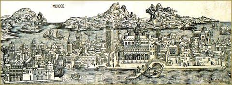 Albrecht Durer vue de Venise.