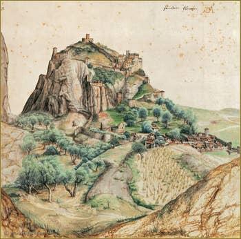 Albrecht Dürer Vue du Val d'Arco 1495.