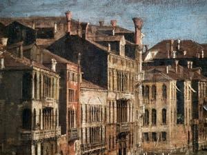 Canaletto, Le Grand Canal vu du palais Balbi jusqu'au pont du Rialto, les façades des palais du Grand Canal, à la Ca' Rezzonico à Venise