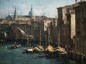 Canaletto, Le Grand Canal vu du palais Balbi jusqu'au pont du Rialto, palais et Basilique San Giovanni e Paolo, à la Ca' Rezzonico à Venise