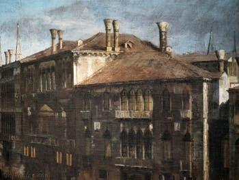Canaletto, Le Grand Canal vu du palais Balbi jusqu'au pont du Rialto, cheminées et palais du Grand Canal, à la Ca' Rezzonico à Venise