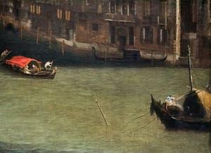 Canaletto, Le Grand Canal vu du palais Balbi jusqu'au pont du Rialto, bateaux sur le Grand Canal, à la Ca' Rezzonico à Venise