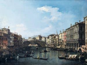 Canaletto, Le Grand Canal de Venise et le Pont du Rialto vu du Sud, Galerie Nationale Barberini à Rome