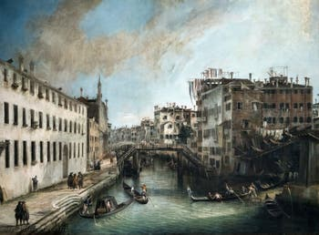Canaletto, La Vue du Rio dei Mendicanti à la Ca' Rezzonico à Venise