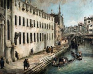 Canaletto, La Vue du Rio dei Mendicanti, la Fondamenta dei Mendicanti, à la Ca' Rezzonico à Venise