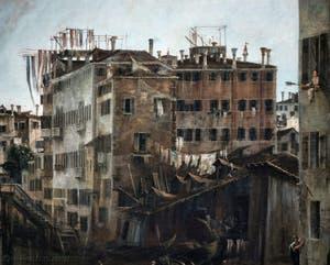 Canaletto, La Vue du Rio dei Mendicanti, le Squero dei Mendicanti, à la Ca' Rezzonico à Venise