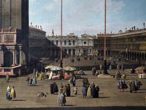 Canaletto, La Place Saint-Marc et les Procuraties vues depuis la Basilique, Galerie Nationale Barberini à Rome