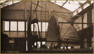 Premiers essais de coupole mobile et pliable réalisés rue Saint Charles à Paris en 1902