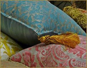 Coussins en tissu Mariano Fortuny
