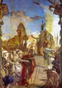 Giambattista Tiepolo, Antoine et Cléopâtre, Palazzo Labia dans le Cannaregio à Venise