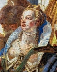 Giambattista Tiepolo, Antoine et Cléopâtre, portrait de Cléopâtre au Palazzo Labia dans le Cannaregio à Venise
