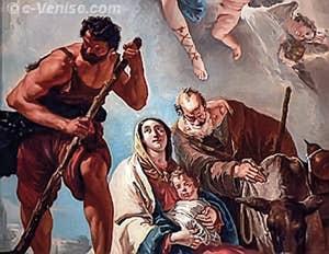 Giandomenico Tiepolo - La Fuite en Égypte, Capella Sant'Atanasio - église de San Zaccaria