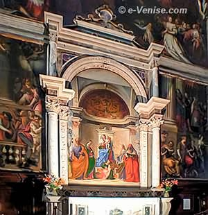 Giovanni Bellini Vierge à l'enfant avec un Ange musicien