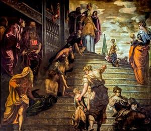 Le Tintoret, La Présentation de la Vierge au Temple à l'église de la Madonna de l'Orto à Venise.