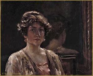 Portrait d'Henriette Fortuny au miroir 1930
