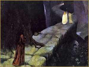 Toile de Mariano Fortuny, Parsifal, la montée vers le Graal