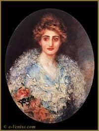 Portrait de femme par Mariano Fortuny en 1900