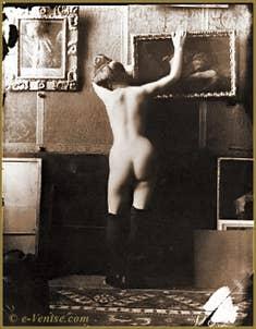 Étude de modèle nu par Mariano Fortuny vers 1895