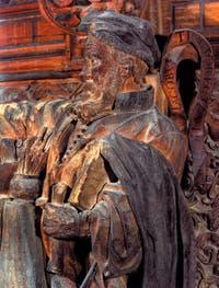 Francesco Pianta le Jeune, Portrait de Tintoret, dans la bibliothèque de la Scuola Grande San Rocco à Venise