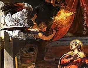 Tintoret l'Annonciation - Scuola San Rocco