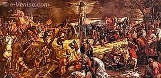 La Crucifixion du Tintoret Scuola Grande di San Rocco à Venise