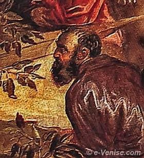 Le Tintoret, par lui-même dans la Crucifixion, Scuola Grande di San Rocco à Venise