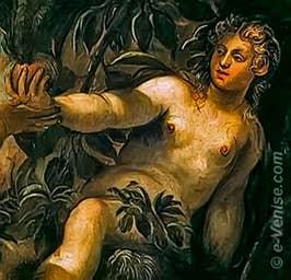 Tintoret le Péché Originel à la San Rocco à Venise