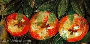 Tintoret - Trois pommes - Frise à la Scuola San Rocco à Venise