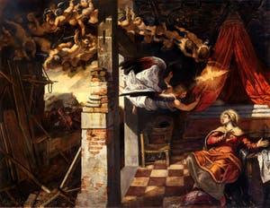 Le Tintoret, L'Annonciation à la Scuola Grande San Rocco à Venise