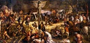 La Crucifixion de Tintoret, 1565, à la Scuola Grande San Rocco à Venise