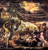 Le Tintoret, La Cueillette de la Manne, Scuola Grande San Rocco à Venise