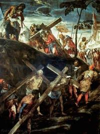 Tintoret, la Montée au Calvaire à la Scuola Grande San Rocco à Venise