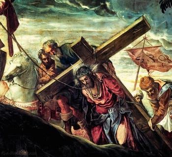 Le Tintoret, Le Christ dans la Montée au Calvaire à la Scuola Grande San Rocco à Venise